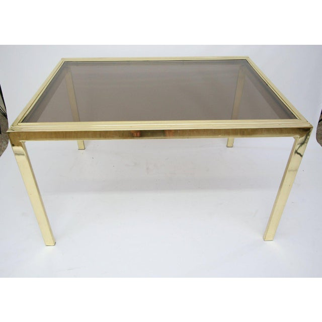 1970s Dia Extending Brass Dining Table For Sale - Image 5 of 7