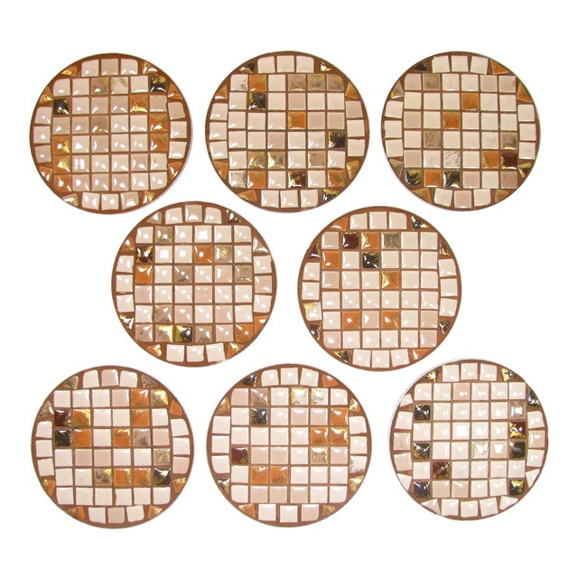 Mid-Century Mosaic Tile Coasters - Set of 8 - Image 1 of 3