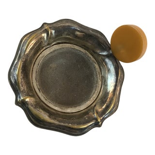 1940s Bakelite Silverplate Tea Strainer For Sale