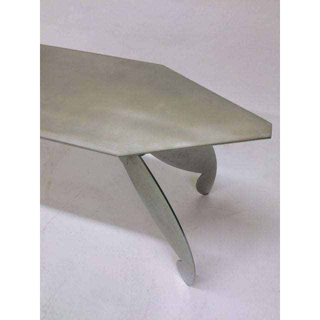 Sculptural Steel Console Table - Image 3 of 5
