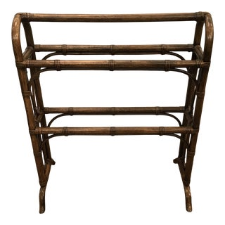 20th Century Boho Chic Bentwood Quilt Rack For Sale