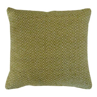 Herald Green Raw Silk Pillow For Sale