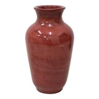 19th Century Mottled Red Peking Glass Vase For Sale