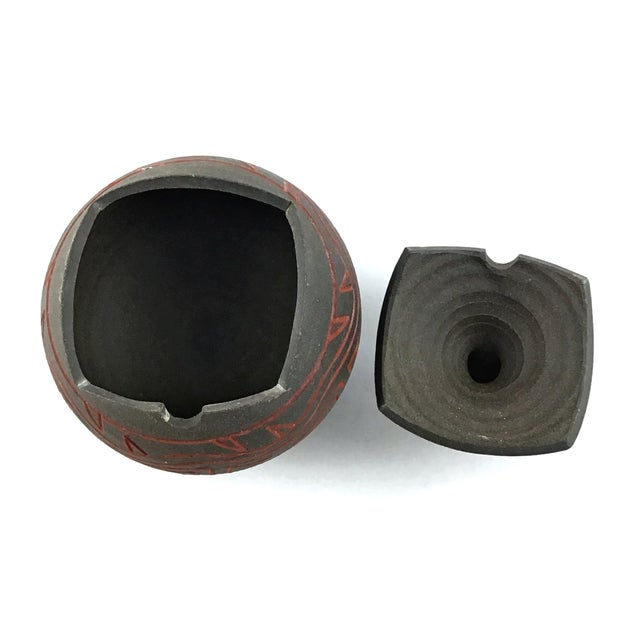 Japanese Modern Artisanal Clay Ceramic Bud Vase For Sale - Image 9 of 11