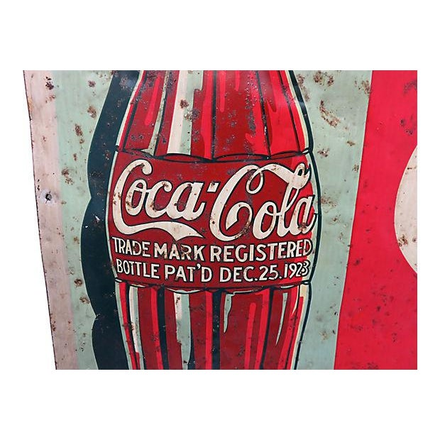1920s Coca-Cola Advertising Sign - Image 5 of 6