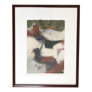 Vintage Pastel Abstract by John Douglas, Framed