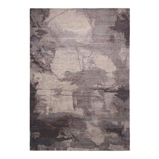 Rug & Kilim's Modern Silver Gray Wool Rug For Sale