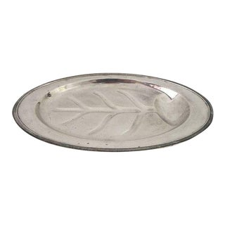 Vintage Carol Simeon & George Rogers Silver Co Silver Plate Meat,Turkey Tray For Sale