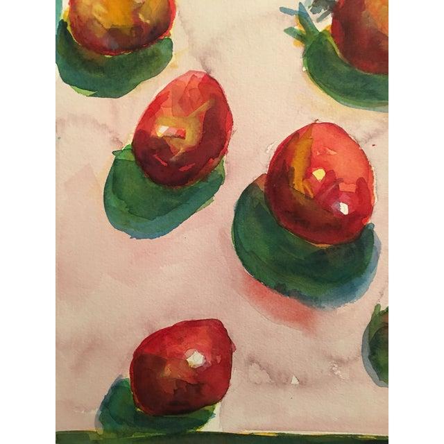 "Original ""Tomatoes"" Watercolor Painting - Image 5 of 7"