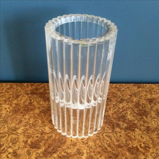 Van Horn Hayward Lucite Candle Holder or Vase - Image 2 of 6