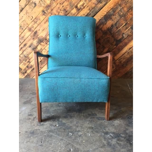 Mid-Century Sculpted Reupholstered Chair - Image 2 of 6