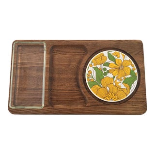 70's Retro Cheese Serving Platter For Sale