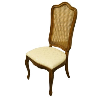 Late 20th Century Thomasville Furniture Tableau Collection French Provincial Cane Back Dining Side Chair Preview