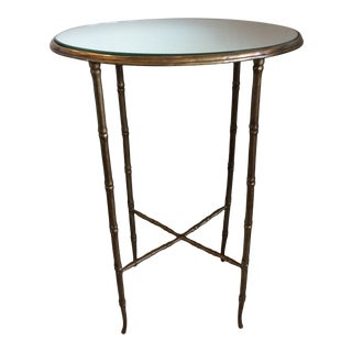 Mid-Century Brass Bamboo Table For Sale