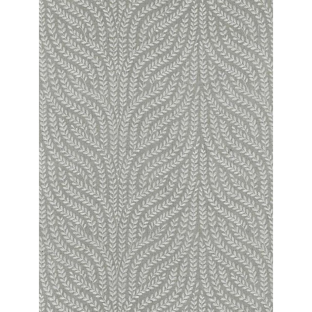 Transitional Scalamandre Willow Vine Embroidery, French Grey Fabric For Sale - Image 3 of 3