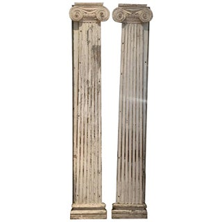 Early 19th Century Vintage Federal Period Colombia Pilasters- A Pair For Sale