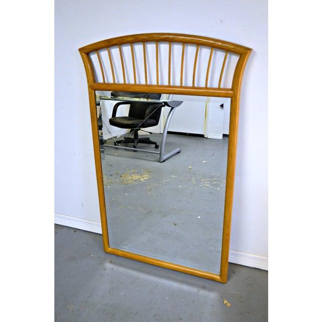 Oak Frame Mirror For Sale In Miami - Image 6 of 7
