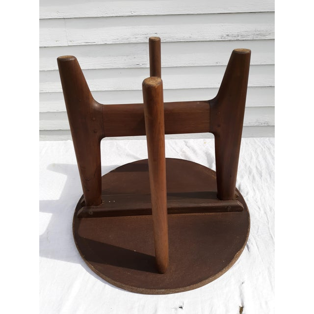 Brown 1960s Mid-Century Modern Angel Pazmino, Ecuador, Leather and Wood Table For Sale - Image 8 of 12