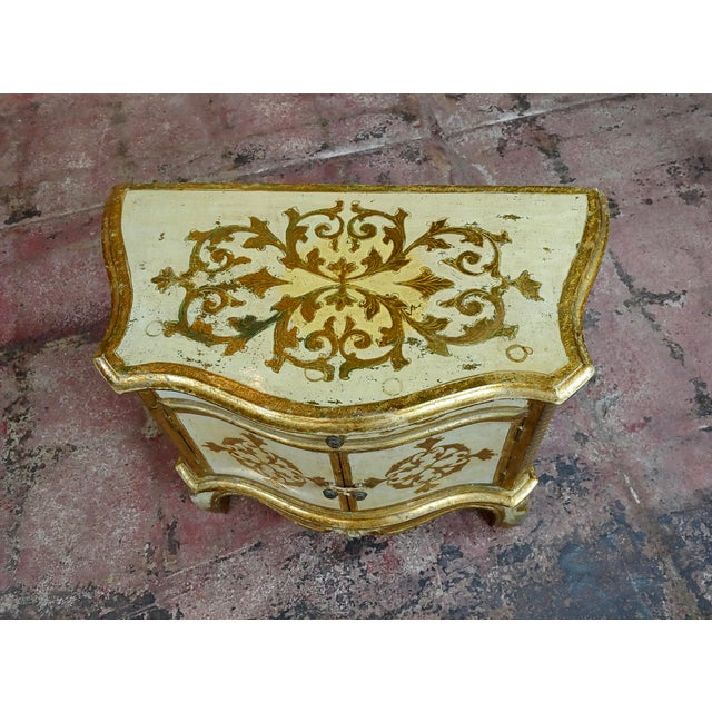 Antique Italian Florentine Small Gilt-Wood Commodes -A Pair For Sale - Image 4 of 10
