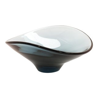 Mid-Century Modern Biomorphic Art Glass Bowl For Sale