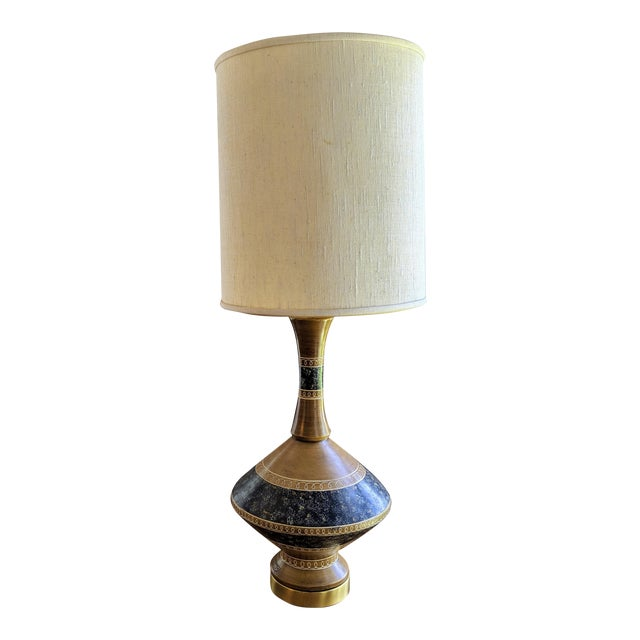 Vintage Mid Century Modern Lamp By Fortune Lamp Co With Shades