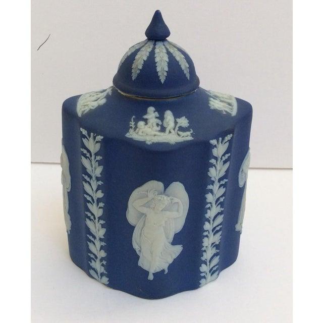 Blue & White Wedgwood Tea Caddy - Image 2 of 6