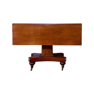 Antique American Empire Cherry Pedestal Dining Table For Sale