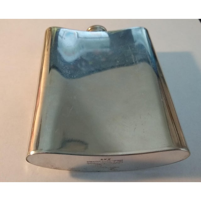 Art Deco Vintage English Pewter Flask For Sale - Image 3 of 6