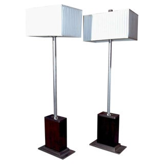 Pair of Mid-Century Modern Floor Lamps For Sale