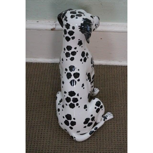 Vintage Italian Pottery Dalmatian Dog Statue - Image 4 of 10