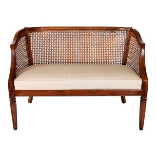 Caned Settee For Sale