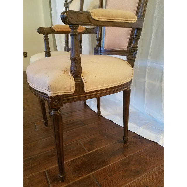 Early 20th Century Antique Walnut Dining Chairs - Set of 8 For Sale - Image  5 - Antique Walnut Dining Chairs - Set Of 8 Chairish