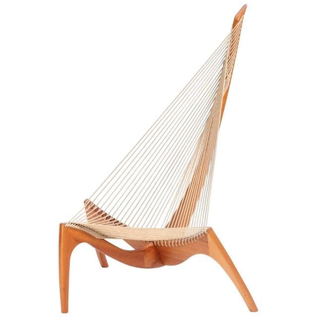 """Mid-Century Modern 1960s Vintage Jørgen Høvelskov """"The Harp"""" Chair For Sale - Image 3 of 3"""