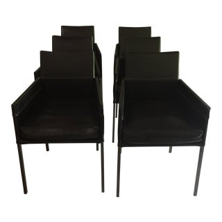 Design Within Reach Leather Antica Armchairs - Set of 2 Chairs, 3 Sets of 2 Chairs Available For Sale
