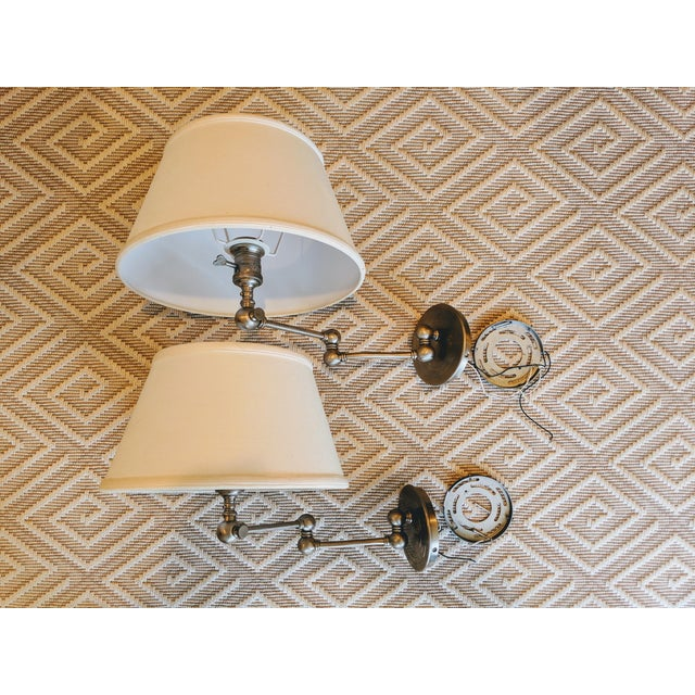 White Visual Comfort E. F. Chapman Boston Sconces - a Pair For Sale - Image 8 of 8