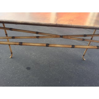 Faux Bamboo Console Table Preview