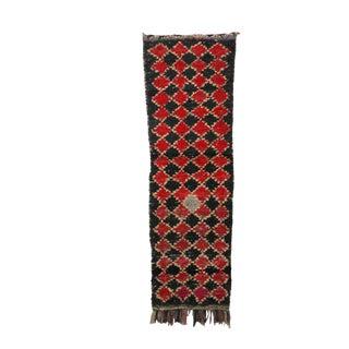 "Vintage Moroccan Boucherouite, Rug-2'6"" X 8'4"" For Sale"