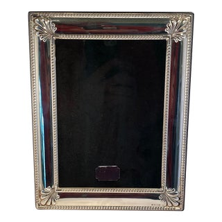 "1990s English Carrs Sheffield. 925 Sterling 7"" X 9"" Photo Frame For Sale"