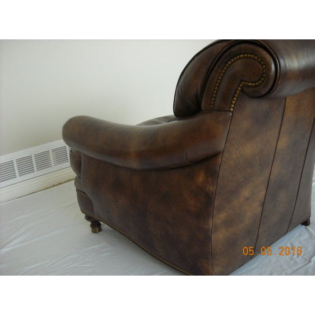 Custom Leather Chairs by Hancock & Moore - A Pair - Image 9 of 10
