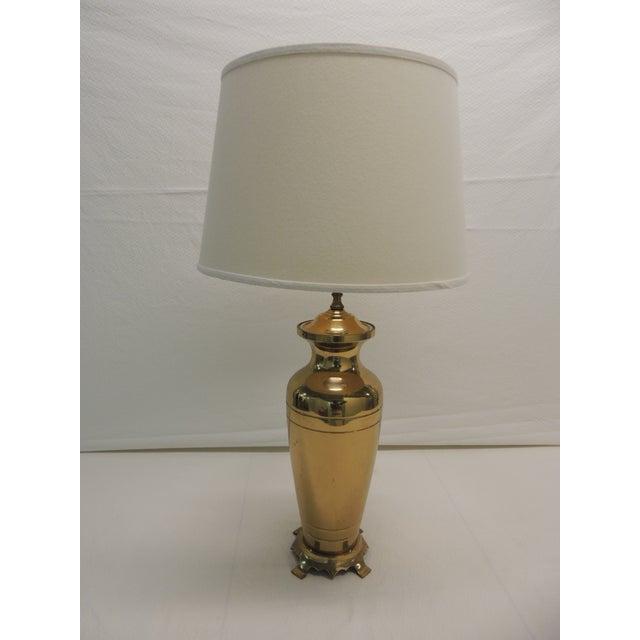 Hollywood Regency Brass Ginger Jar Table Lamp - Image 2 of 5
