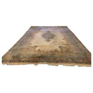 Monumental Signed Kirman Carpet For Sale