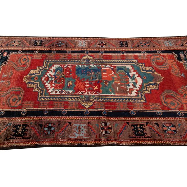 Textile Mid-20th Century Vintage Wool Rug 4' 5'' X 8' 8''. For Sale - Image 7 of 13