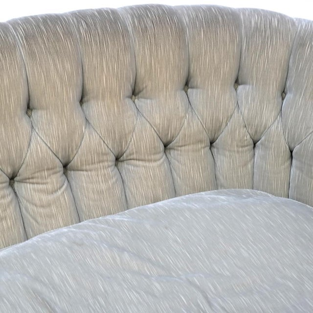 Gold Small Tufted Sofa With Loose Seat Cushion For Sale - Image 8 of 10