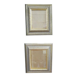 1945 Vintage Antique Carved Gilt Wood Frames - a Pair For Sale