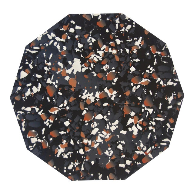 Terrazzo Placemat in Black For Sale
