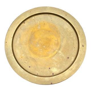 Valenti Spain Round Brass Tray For Sale