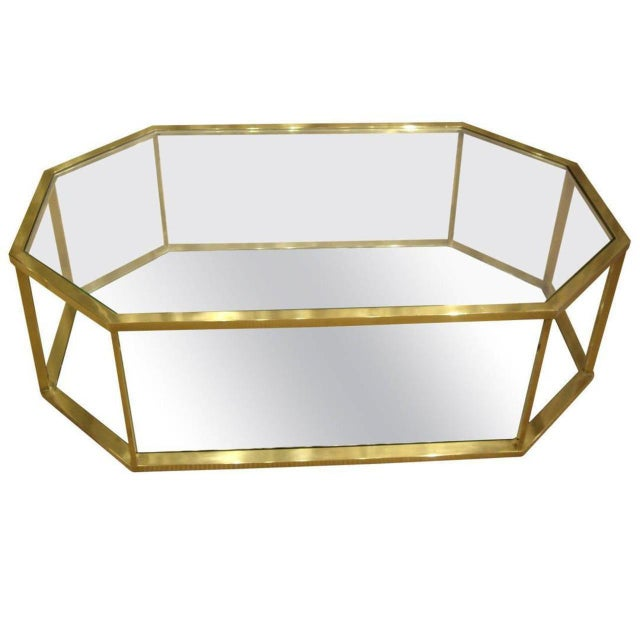 Metal Vintage 1960s French Brass Coffee Table For Sale - Image 7 of 7