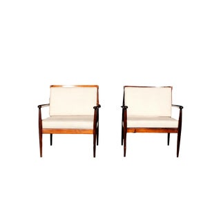 1960s Rino Levi Brazilian 1960s Jacaranda Armchairs-a Pair For Sale