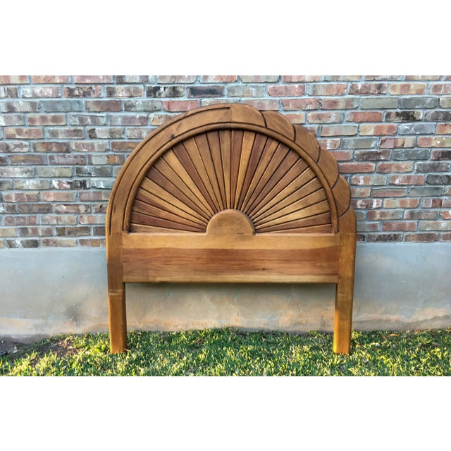 Carved Wood Full Sized Headboard - Image 2 of 4