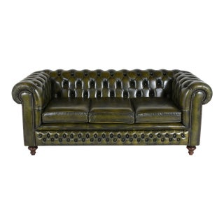 Vintage Chesterfield-style Tufted Sofa